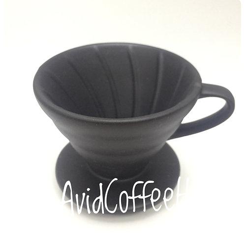 V形陶瓷磨沙把手濾杯 錐形手沖濾杯 螺旋形 手沖咖啡濾杯1-2人份/$89, 2-4人份/$99