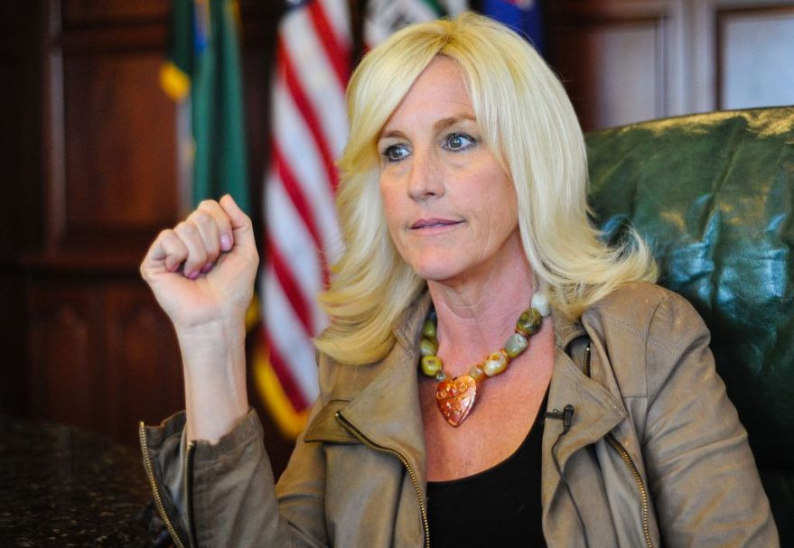 Environmental activist Erin Brockovich discusses Hinkley's Chromium 6 water contamination issues during a sit-down interview at the Law office of Masry & Vititoe in Westlake Village, Calif. on Wednesday, March 13, 2013.