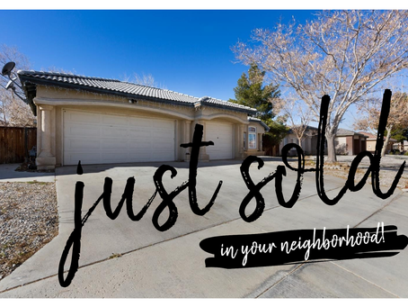 Just Sold - 12550 El Evado Victorville Ca 92392