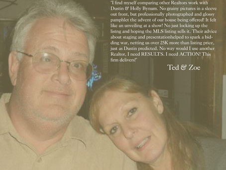 Testimonial Tuesday - Ted & Zoe