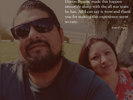 Testimonial Tuesday - Jorge & Norma