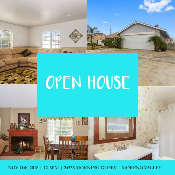 Open House Sunday 12-11-18 from 12-3 PM