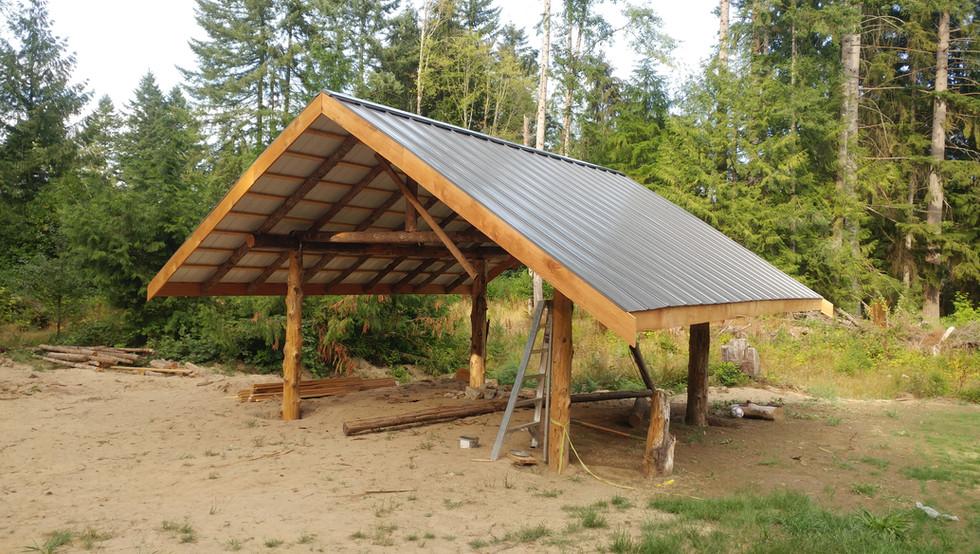 Gig Harbor Wood Shed Metal Roof