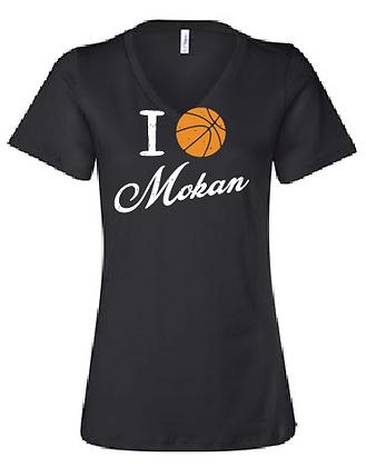 I BB Mokan Women's Relaxed Jersey V-Neck Tee