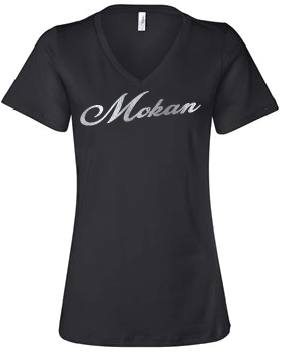 Silver Foil Women's Relaxed Jersey V-Neck Tee