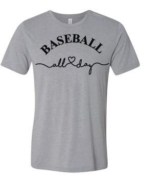 Baseball All Day Basic Tee