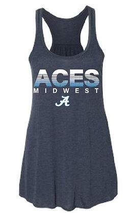 Aces Ladies Flowy Racerback Tank