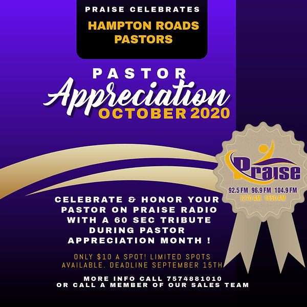 Copy of Pastor Appreciation Church Flyer
