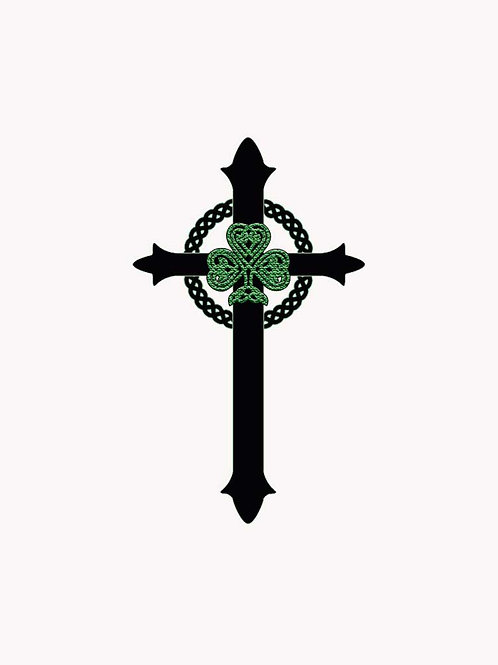 Celtic Christian St. Patrick Shamrock Cross