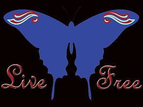 Butterfly Free Spirit Live Free Shirt