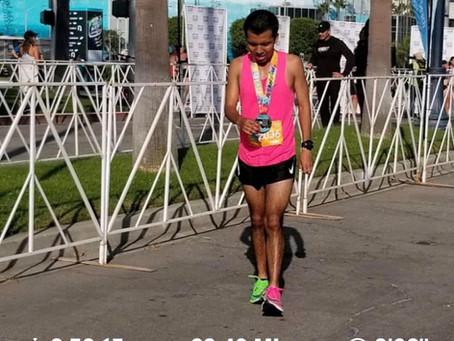 His Little Feet Runs a Marathon