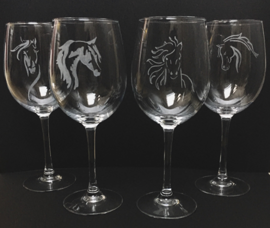 personalised hand engraved glasses, perfect birthday gift