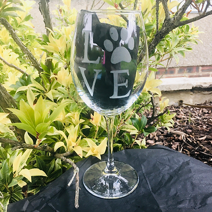 Dog wine glass / Dog gifts for owner / Paw print / Fur babies / Pet lovers