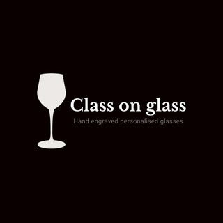 class on glass, hand engraved personalised glasses