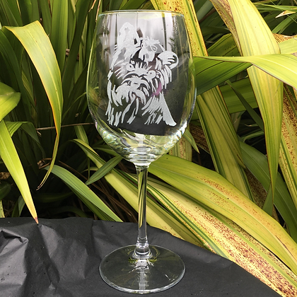 Yorkshire terrier wine glass