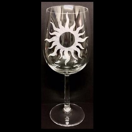 Sun glass / Engraved wine glass / Four seasons