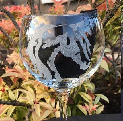 Horse head gin glass