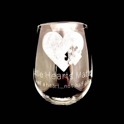 Chd awareness  / Engraved wine glass / Heart warrior / hlhs