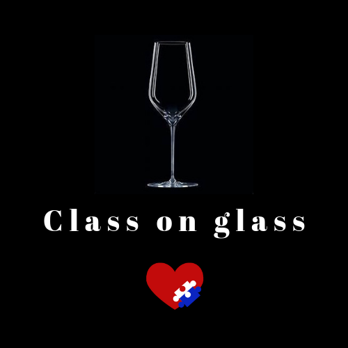 class on glass, personalised hand engraved glasses, helping support charity little hearts matter, for children born with hypoplastic left heart syndrom or half a heart