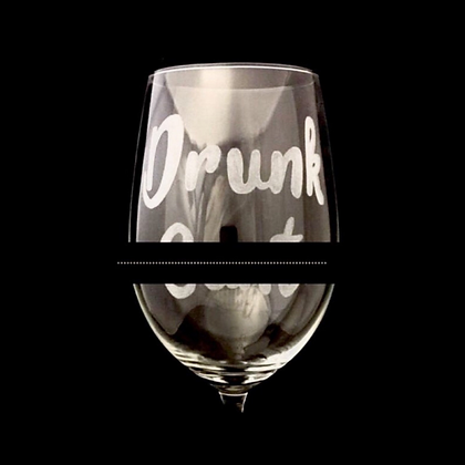 Adult themed wine glass