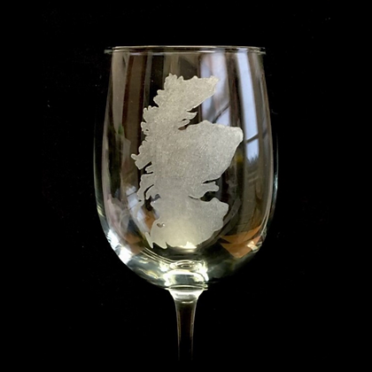 Pair of Scotland wine glasses