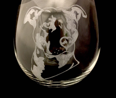 Staffordshire bull terrier #staffy #dog #classonglass