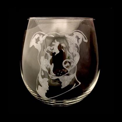 Staffordshire bull terrier wine glass