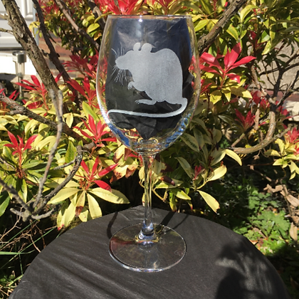 Rat lover / Engraved wine glass / Pet rat / Rat gifts