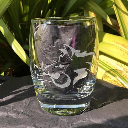 Wild boar whiskey glass