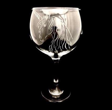 Unicorn Gin glass