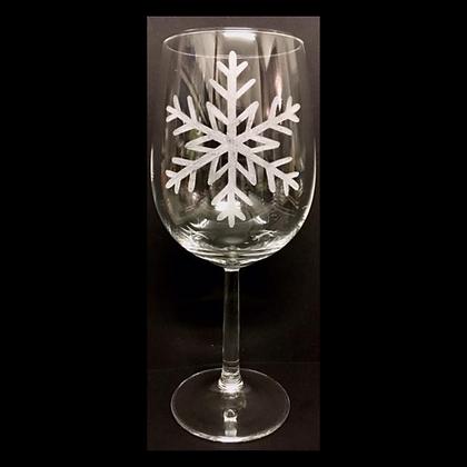 Snow flake / Engraved wine glass / Four seasons