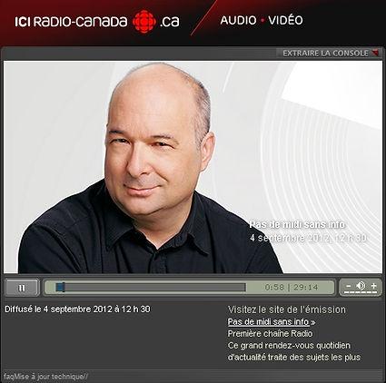 Image de l'entrevue Radio-Canada TGWT