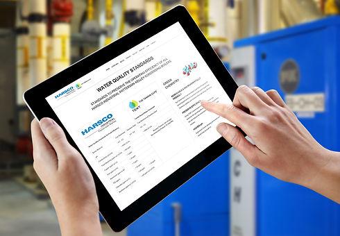 iPad showing PK and TGWT Water Treatment Program