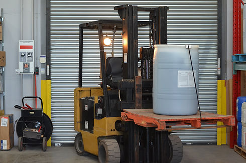 Lift Truck handling and shipping purified tannins from TGWT