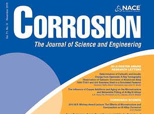 Page Couverture du magazine Corrosion Journal publié par NACE TGWT