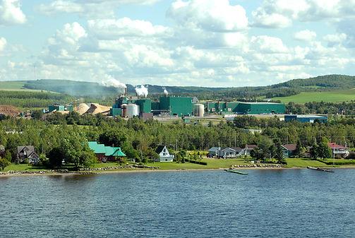 Photo officielle de l'usine de Cascades Carton-Caisses - Cabano Crédits Photos Cascades