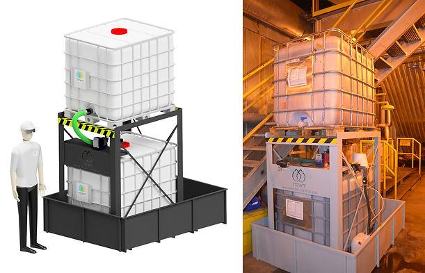 Station de dosage pour tanins purifiés TGWT pour le traitement de l'eau des chaudières à vapeur Crédits photos TGWT