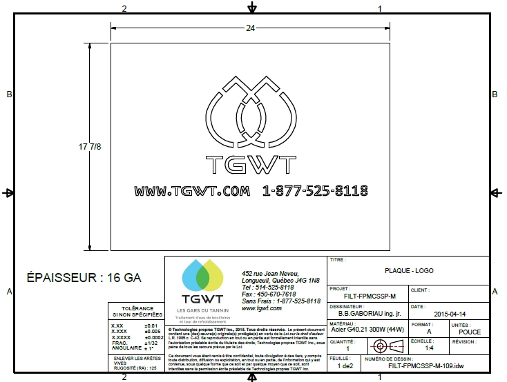 TGWT Technical drawing