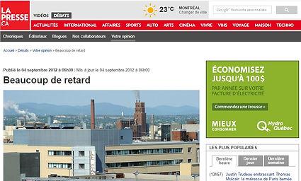 Image de La Presse Article sur la légionellose TGWT