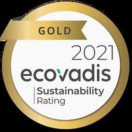 CSR Ecovadis Gold Certification Sticker