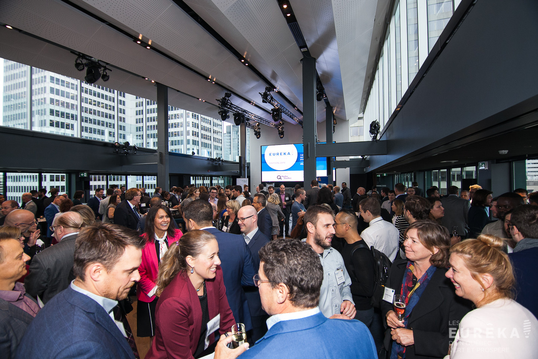 Crowd at Eureka Awards from Ecotech Quebec