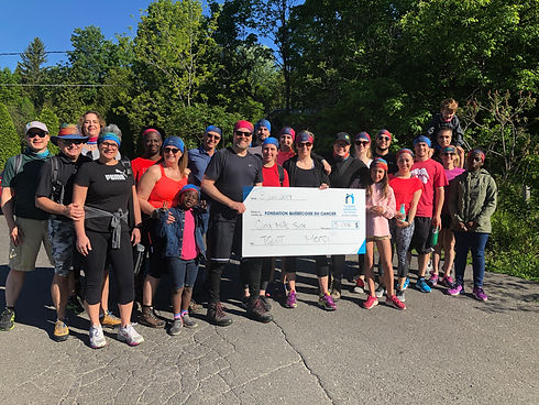 Team of TGWT raising money for the Quebec Foundation Against Cancer