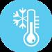 thermostat bleu