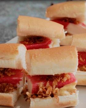 Mini surimi hot dogs.JPG