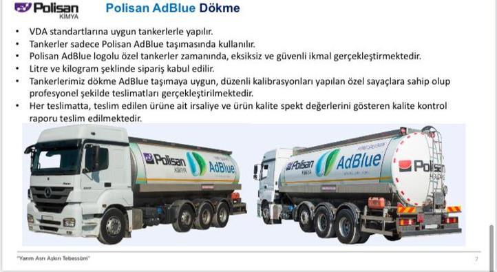 Polisan AdBlue Dökme _ Tanker