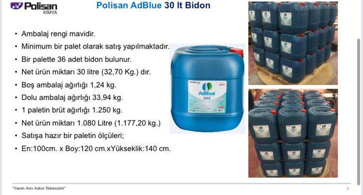 Polisan AdBlue 30 lt. Bidon