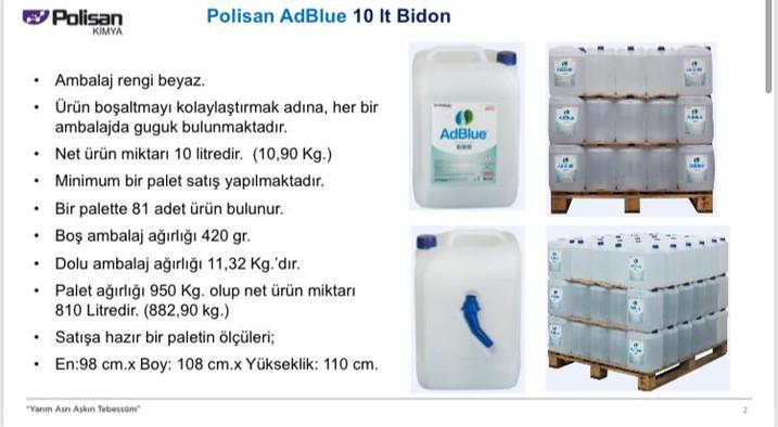 Polisan AdBlue 10 lt. Bidon