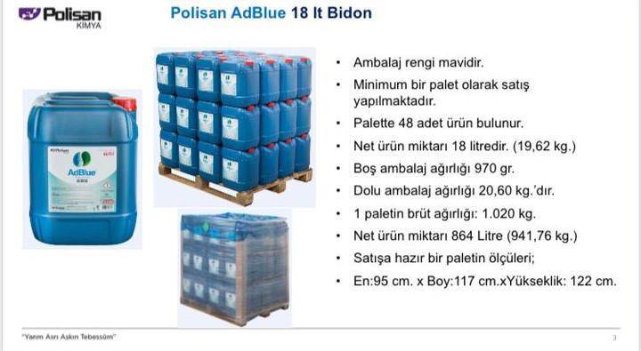 Polisan AdBlue 18 lt. Bidon