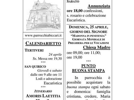 Foglietto settimanale parrocchiale 18 Aprile 2021