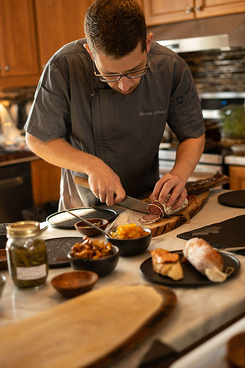 Maxime Leblond, Un Cochon dans la Ville, chef privé, cuisinier d'expérience